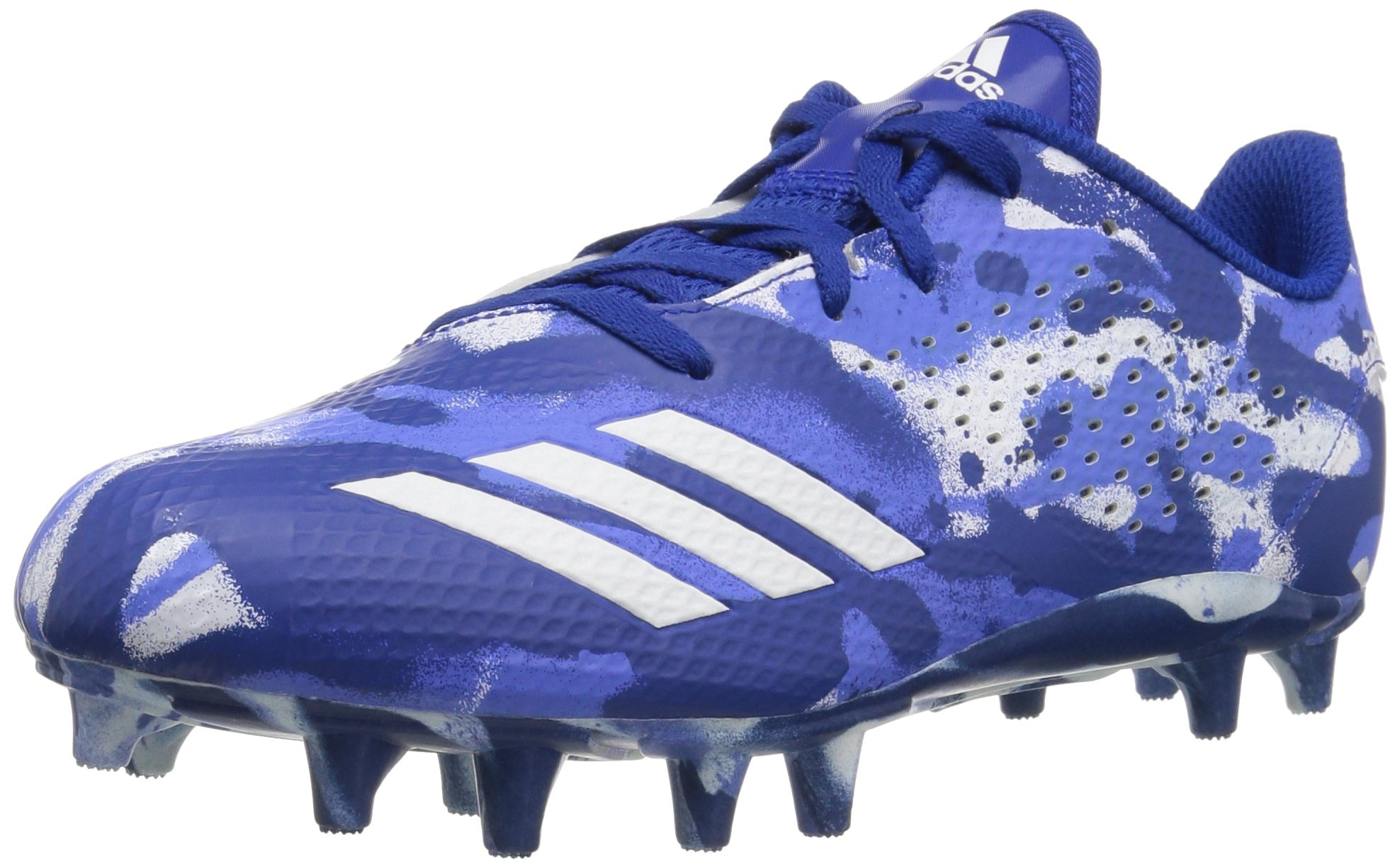 adidas Unisex Adizero 5-Star 7.0 Football Shoe, White/Collegiate Royal/hi-res Blue, 5 M US Big Kid