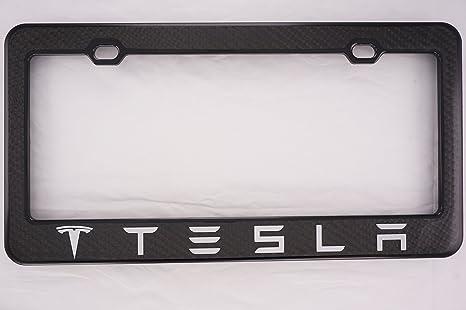 Amazon.com: Tesla Carbon Fiber License Plate Frame: Automotive