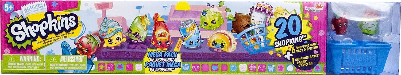 Shopkins Season 1 - Mega Pack of Shopkins - 20 Shopkins plus 6 Shopping Bags and 1 Shopping Basket