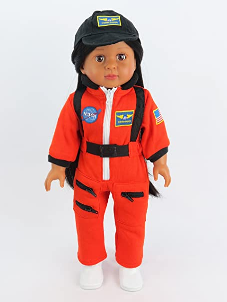 "Orange Astronaut Space Suit | Fits 18"" American Girl Dolls, Madame Alexander, Our Generation, etc. 