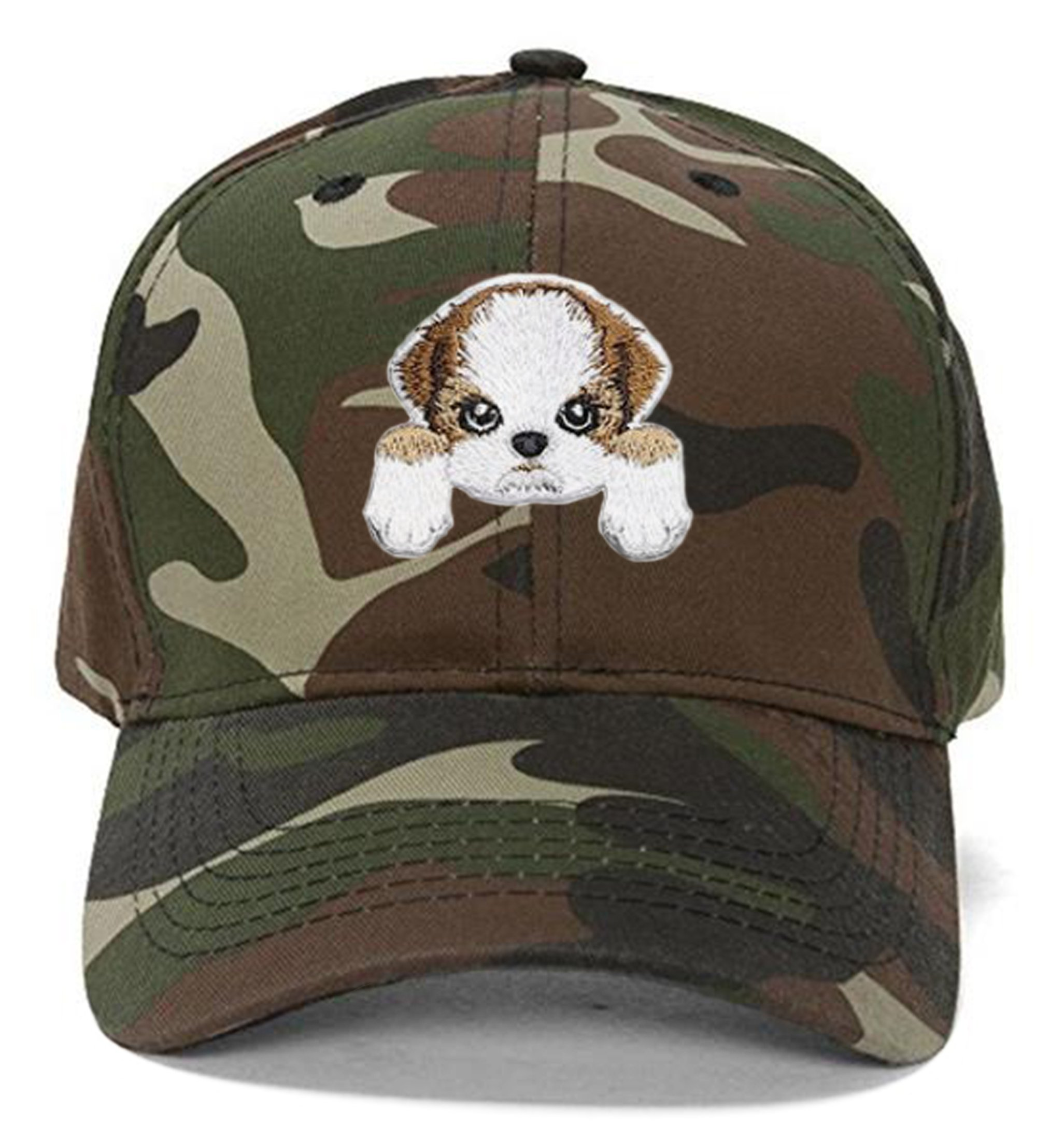 Shih Tzu Dog Hat Cute Puppy Dog Cap (Camo)