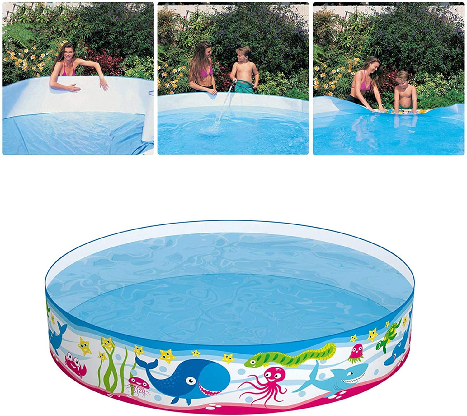 59 84 9 84in Non Inflatable Family Swimming Pool Snap Set Swimming Pool Kids Paddling Pool Children Playing Outdoor Water Fun Kitchen Dining