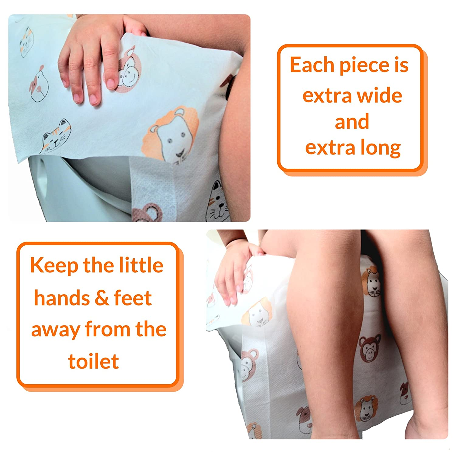10 Disposable Toilet Seat Covers Extra Large Size Perfect for Toddlers Potty Training and Great for Travel Both Kids and Adults
