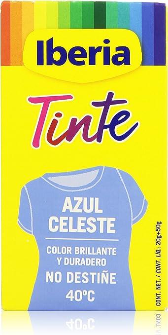 Iberia - Tinte Azul Celeste para ropa, 40°C