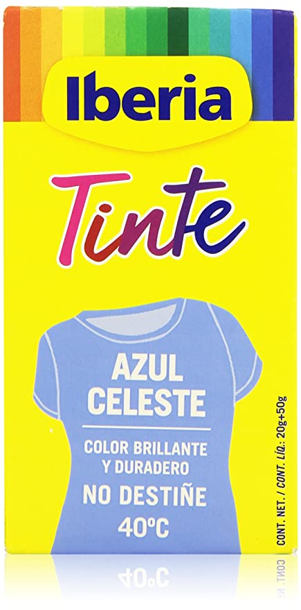 Iberia Tinte Azul Celeste para Ropa - 70 gr