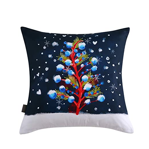Amazon.com: Sara B. - Cojín cuadrado para árbol de Navidad ...