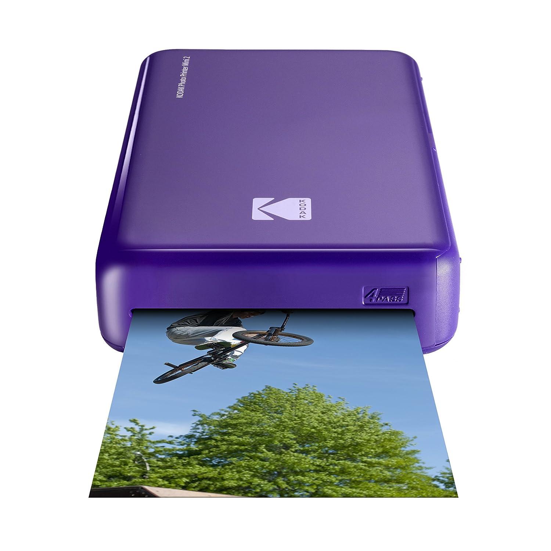 Kodak - Impresora fotográfica mini 2 HD, instantánea, inalámbrica y portátil, con tecnología de impresión patentada 4Pass, compatible con iOS y ...