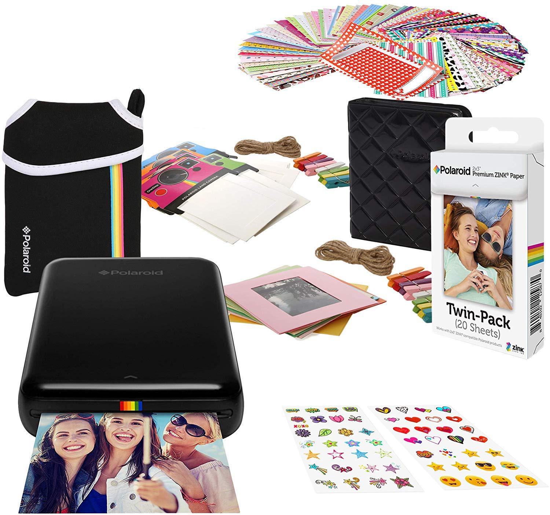 Polaroid Zip Impresora de Fotos Inalámbrica (Negro) Paquete de ...