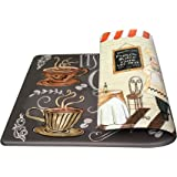 """Art3d Premium Double-Sided Anti-Fatigue Chef Rug, Anti-Fatigue Comfort Mat. Multi-Purpose Decorative Standing Mat for the Kitchen, Bathroom, Laundry Room or Office, 18"""" X 30"""" …"""