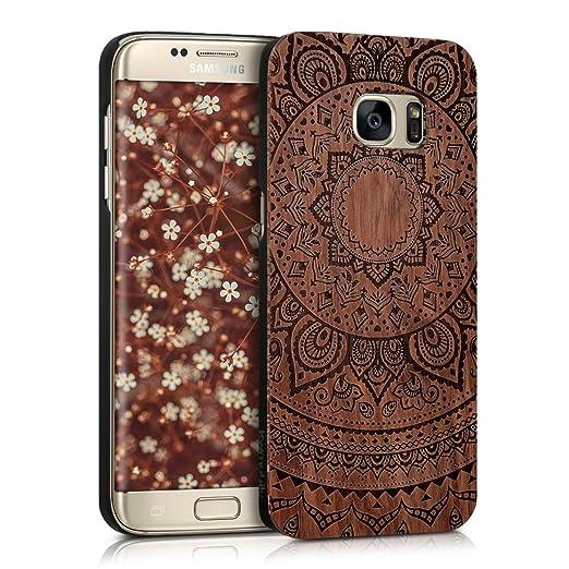 2 opinioni per kwmobile Custodia in legno per Samsung Galaxy S7 edge Cover rigida- Protezione