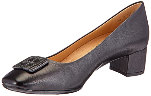 9c1c3160971f Naturalizer Women s Farin Black Leather Pumps - 7 UK India (40  EU)(6546953)  Buy Online at Low Prices in India - Amazon.in