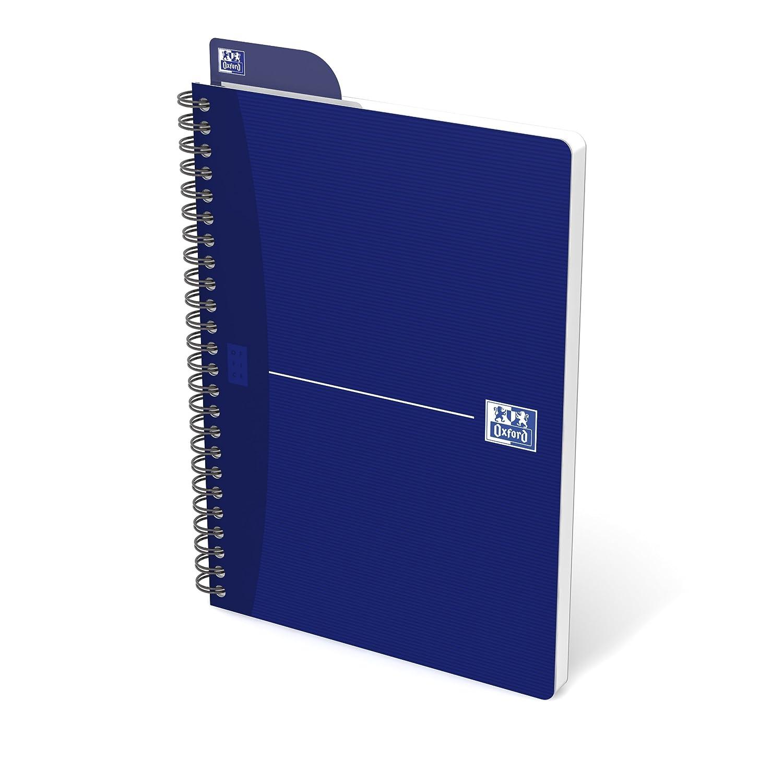 Oxford Essentials - Lote de 5 cuadernos de espiral, cuadros grandes, 180 páginas, tamaño A5, surtido: colores aleatorios