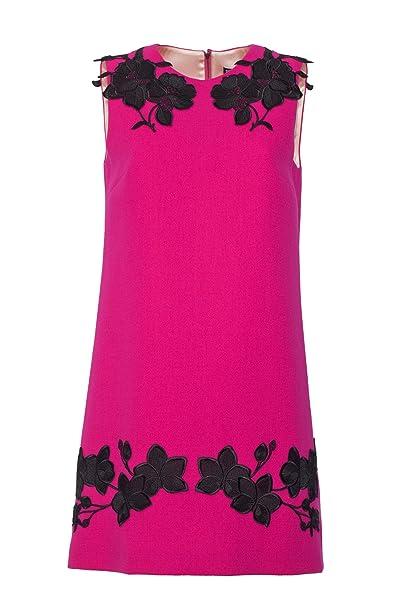 Dolce E Gabbana Vestito Donna F6XW3ZFU2TZF0877 Lana Fucsia  Amazon.it   Abbigliamento 50d17457f94