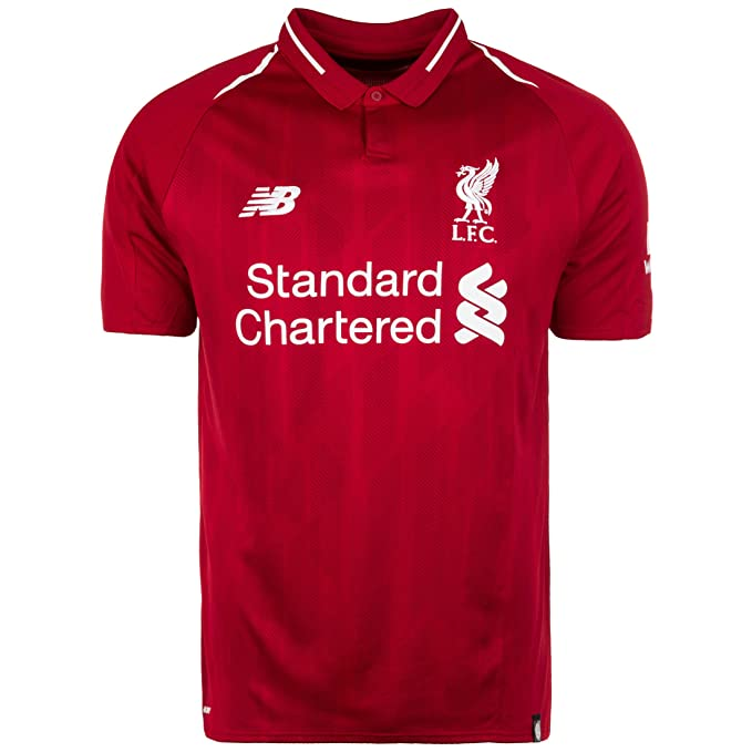 53eae729160 New Balance Liverpool FC Collection 2018 2019 Home Kit Red Polyester Mens  Soccer Jersey Available