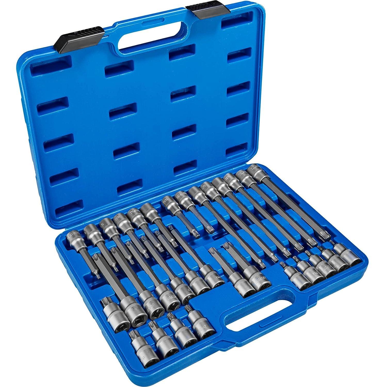 verschiedene Modelle Typ 1   Nr. 402684 Koffer TecTake Steckschl/üsselsatz Torx Steckschl/üssel mit Kodierung und Kugelfangrille  inkl