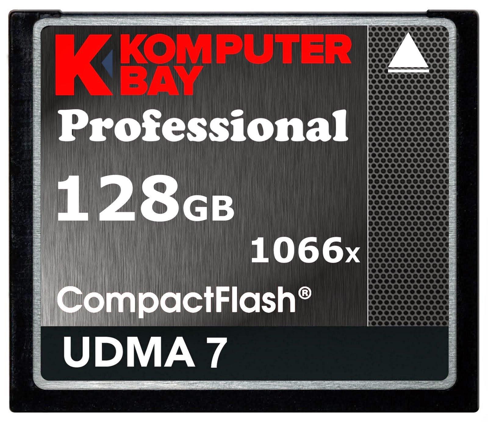 Komputerbay 128GB Professional Compact Flash card 1066X CF Write 155MB/s Read 160MB/s Extreme Speed UDMA 7 RAW by KOMPUTERBAY