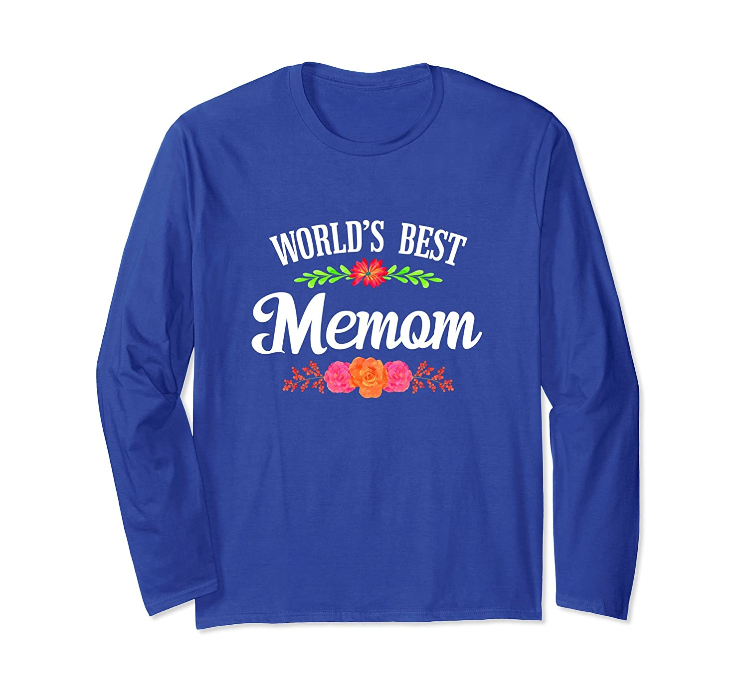 World's Best Memom - Cute Grandma Long Sleeve Shirt-TH