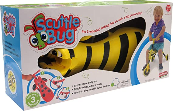 Amazon.com: Mookie Scuttlebug Ride On - Monopatín de tres ...