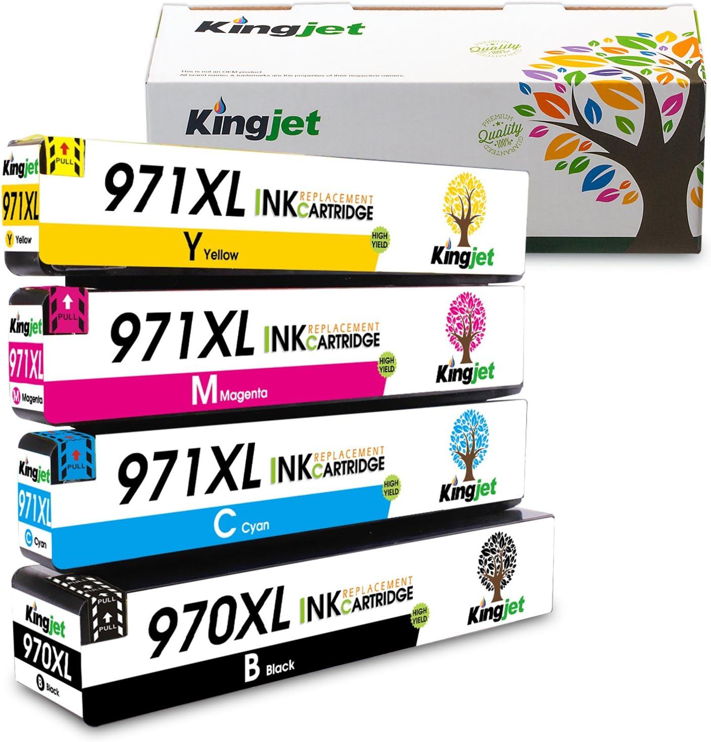 4 High Yield Ink Inkjet 970XL 971XL Set Fits HP 970 971 OfficeJet X476dw X576dw