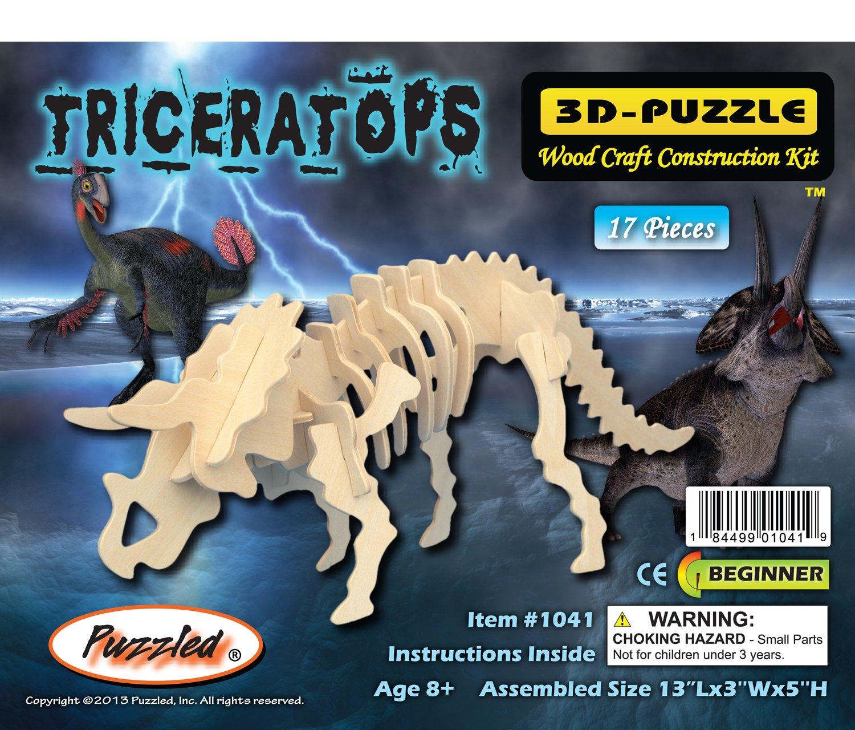 【着後レビューで 送料無料】 3 - D木製パズル – 小さなTriceratops - – your Affordableギフトfor your 小さなTriceratops Little One。Item # dchi-wpz-j001 B004QDXQJY, 【即発送可能】:922505aa --- quiltersinfo.yarnslave.com