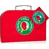 NPW mesa de comedor/set de tenis de mesa de ping pong, color rojo/negro