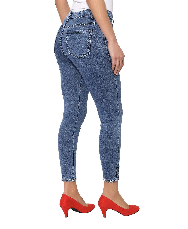 KRISP Women Skinny Jeans Ladies Diamante Ankle Slim Fit Stretch Denim Trousers Pants