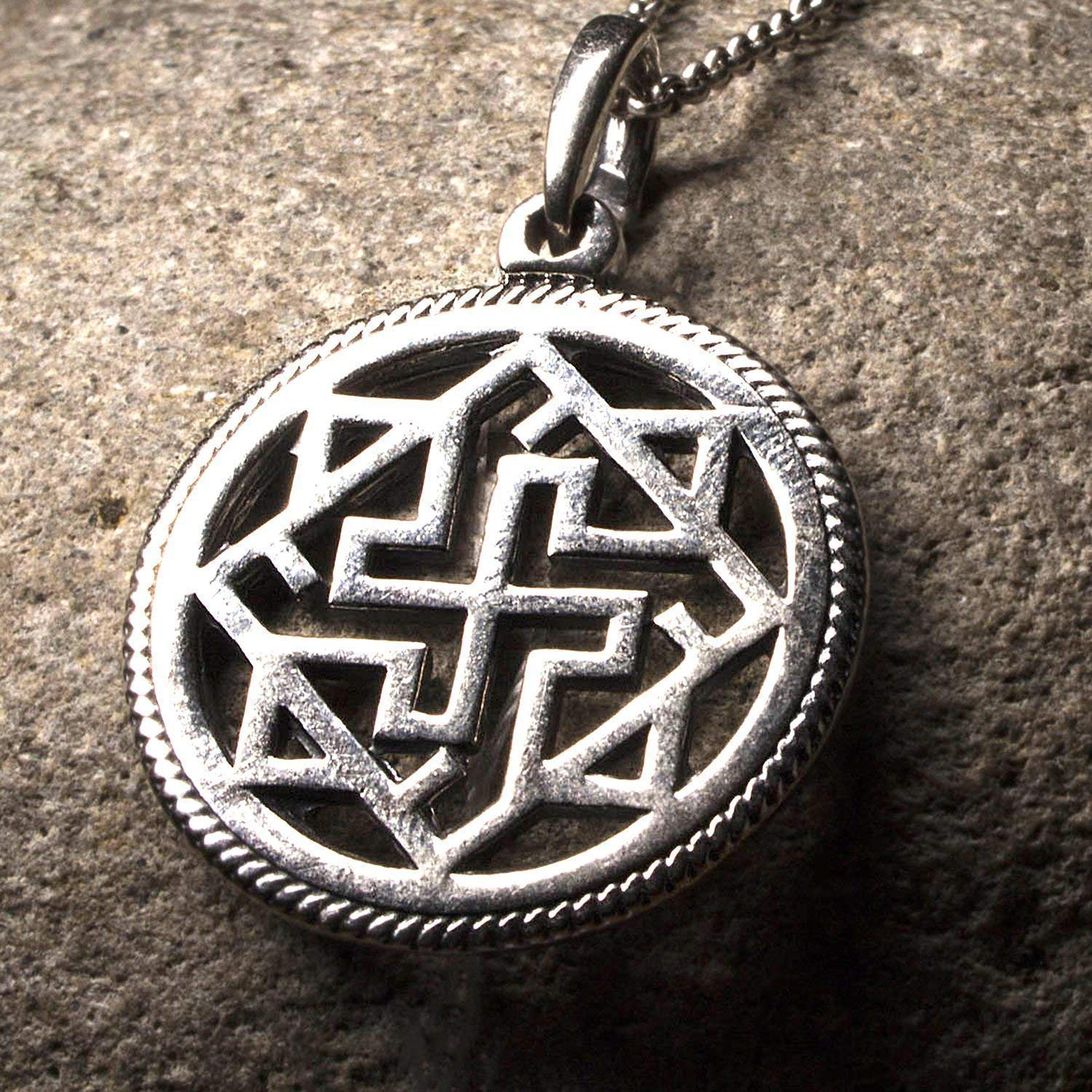 Valkyrie Necklace Norse Jewelry Silver Viking Necklace for Men Women Nordic Pendant Wiccan Jewelry
