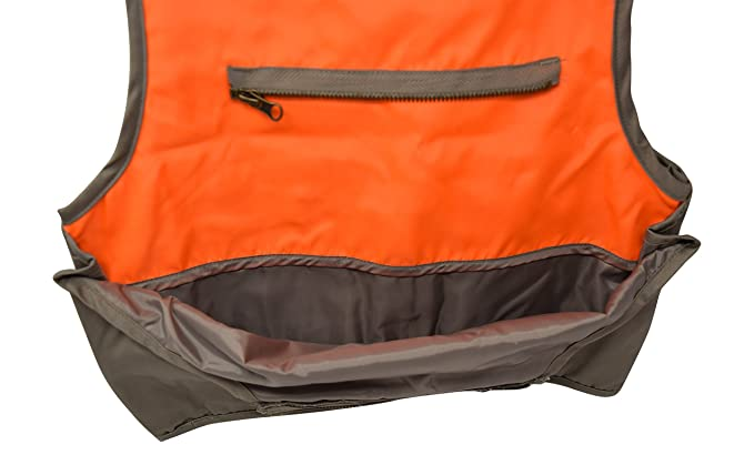 2215000eb9b30 Amazon.com : Nickanny's Sportsman Blaze Orange and Tan Youth Kids Field Shell  Hunting Vest Fits Snug : Sports & Outdoors