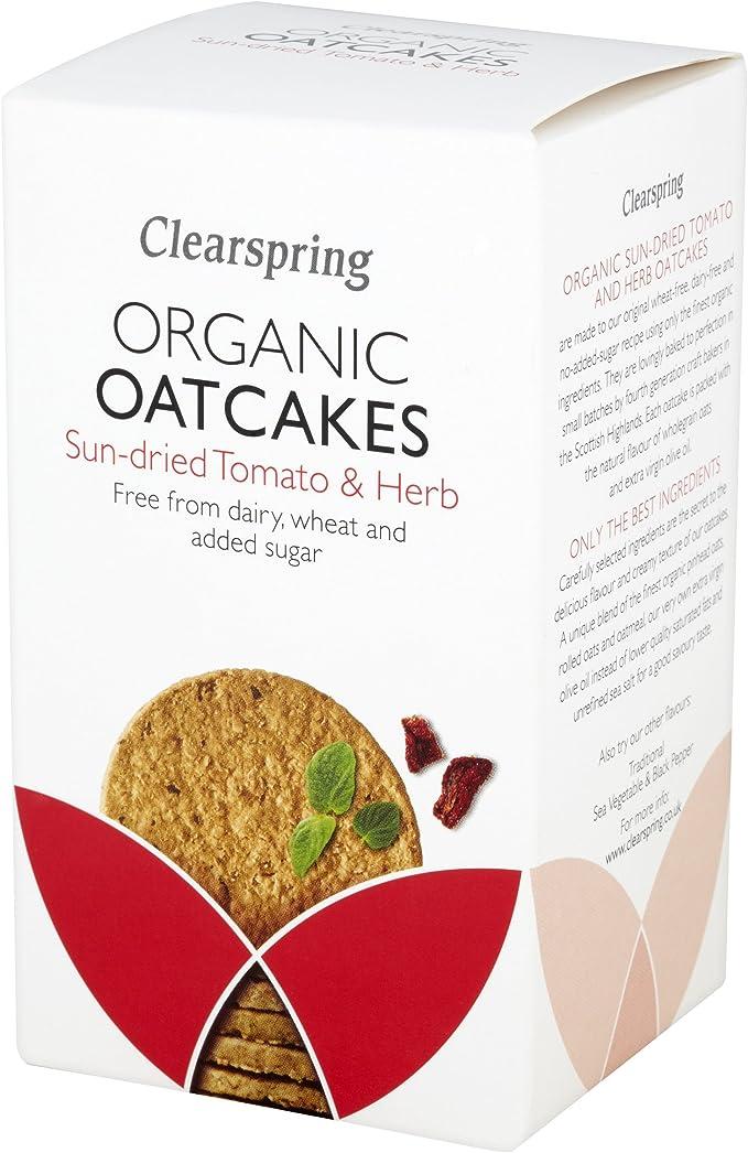 Clearspring - Tortitas Orgánicas de Avena con Tomate y ...