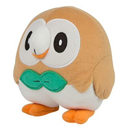 Amazoncom Pokémon Small Plush Rowlet Toys Games