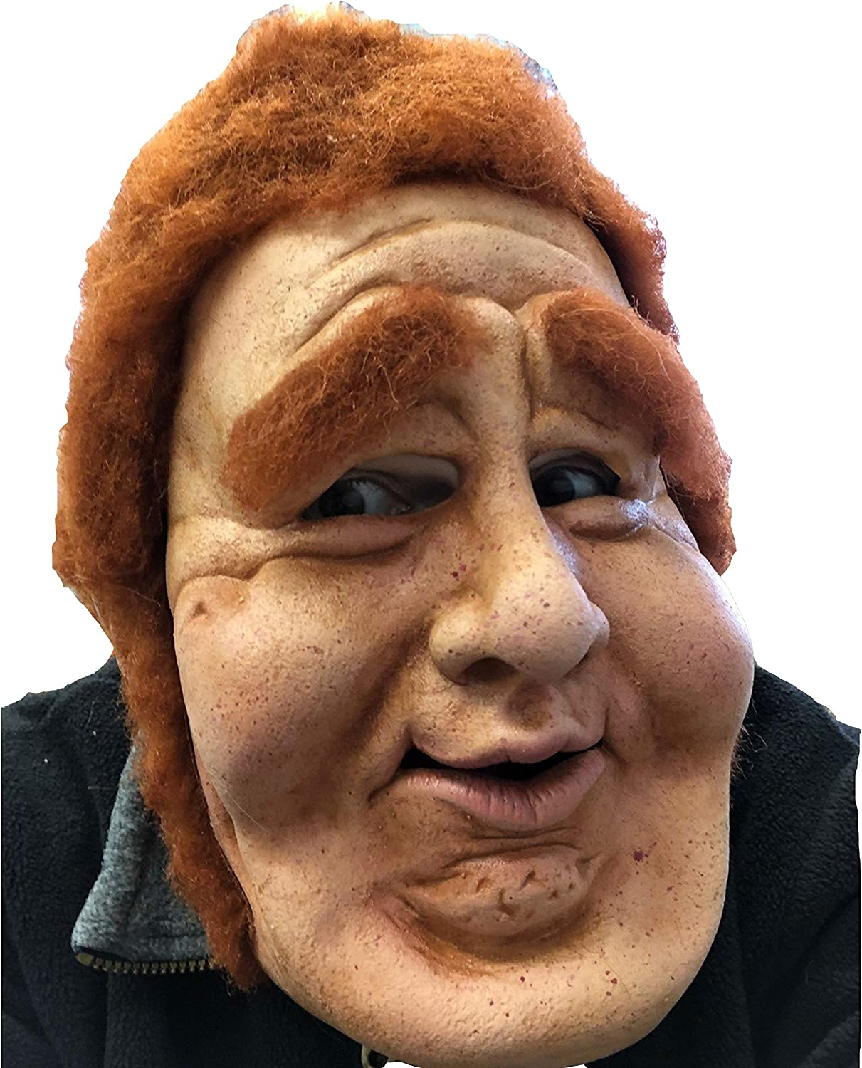 Amazon Com Zagone Studios Dead Sexy Mask Red Haired Fat Old Man Character Latex Mask Clothing