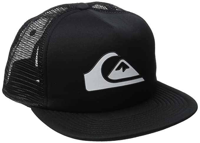 size 40 a4a35 902ae ... netherlands quiksilver mens snapper trucker hat black one size 5ddb6  0fb0c