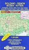 Bozen, Ritten, Tschögglberg: Wanderkarte Tabacco 034. 1:25000 (Cartes Topograh, Band 34)