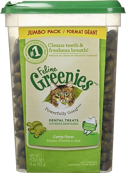 Amazon Com Feline Greenies Dental Treats For Cats Catnip Flavor