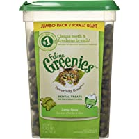 FELINE GREENIES Dental Cat Treats, Makes a Great Gift for Your Cat