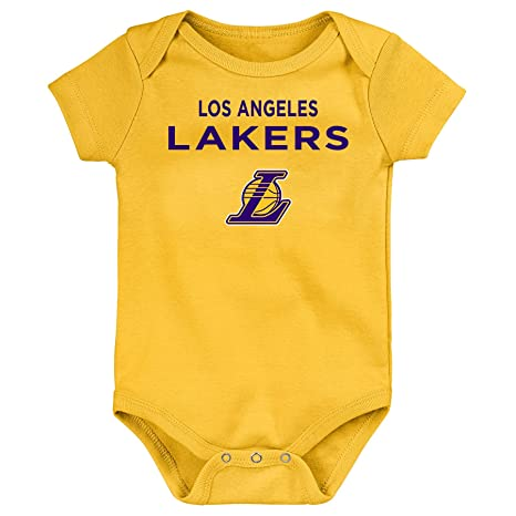 official photos 36833 83cb1 Outerstuff NBA Unisex-Baby Lebron James Name and Number Short Sleeve  Bodysuit