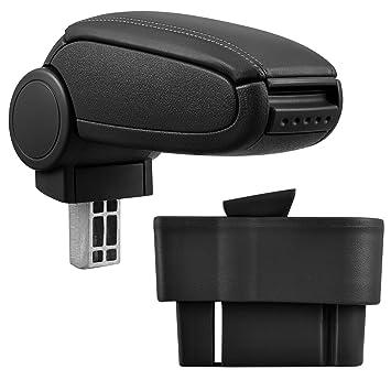 Farbe: SCHWARZ // ROT Mittel-konsole Leder Fahrzeugspezifisch Mittelarmlehne Mittel-Armlehne mit klappbarem staufach