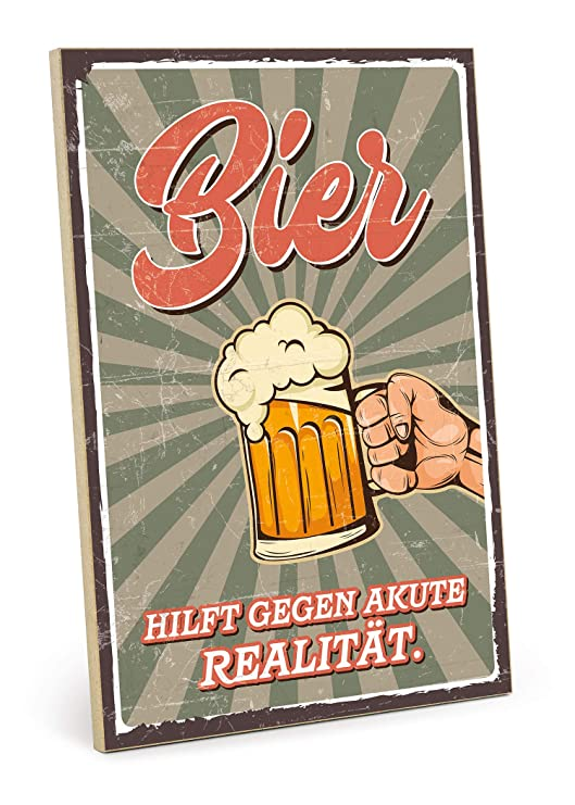 Type plástico Cartel de Madera, diseño con Texto - Cerveza ...