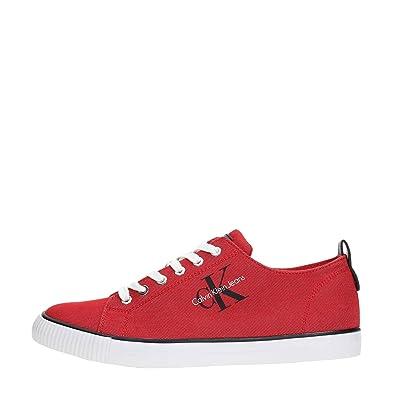 Calvin Klein Manturnschuhe Arnold Denim S1483 Jeans Rot und Himmlisch Herren Schuhe Sport