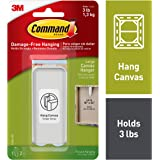 3M Command large Canvas Hanger White Hanger and 2 Strips, Acrylic