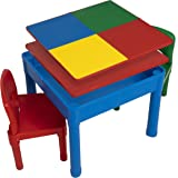 Play Platoon Kids Activity Table Set - 5 in 1 Water Table, Building Block Table, Craft Table and Sensory Table with Storage -
