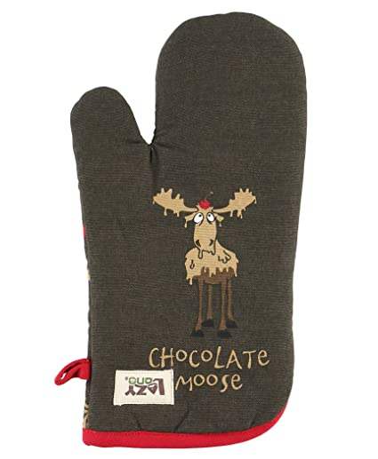 Amazon.com  Chocolate Moose Durable Canvas Cottons Oven Mits by ... db0bcf2c4
