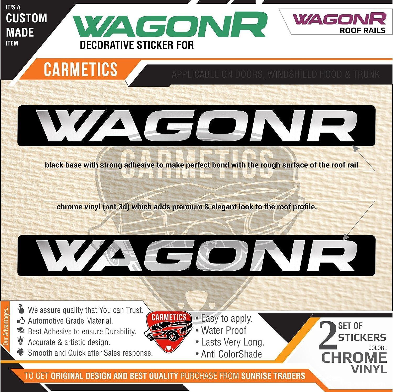 Carmetics wagonr stickers for maruti suzuki wagonr roof rails black chrome amazon in car motorbike