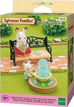 Sylvanian Families - 4535 - Set banco y fuente de jardín: Amazon.es: Juguetes y juegos