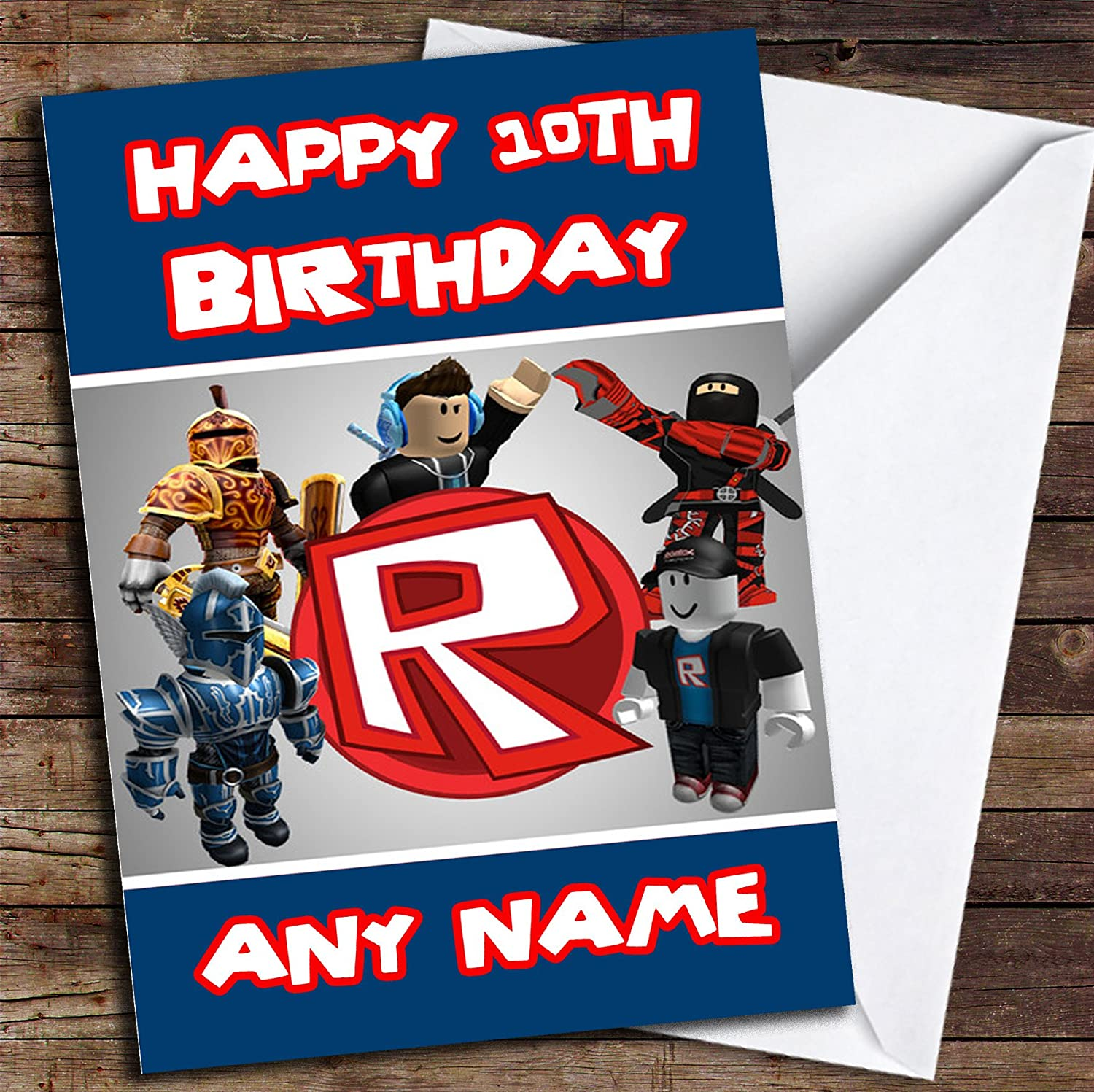 Roblox Logo Personalised Birthday Card Amazoncouk Office Products