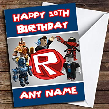 Roblox Logo Personalised Birthday Card