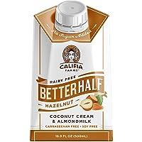 Califia Farms - Hazelnut Better Half Coffee Creamer, 16.9 Oz (Pack of 6) | Half and Half | Coconut Cream and Almond Milk…