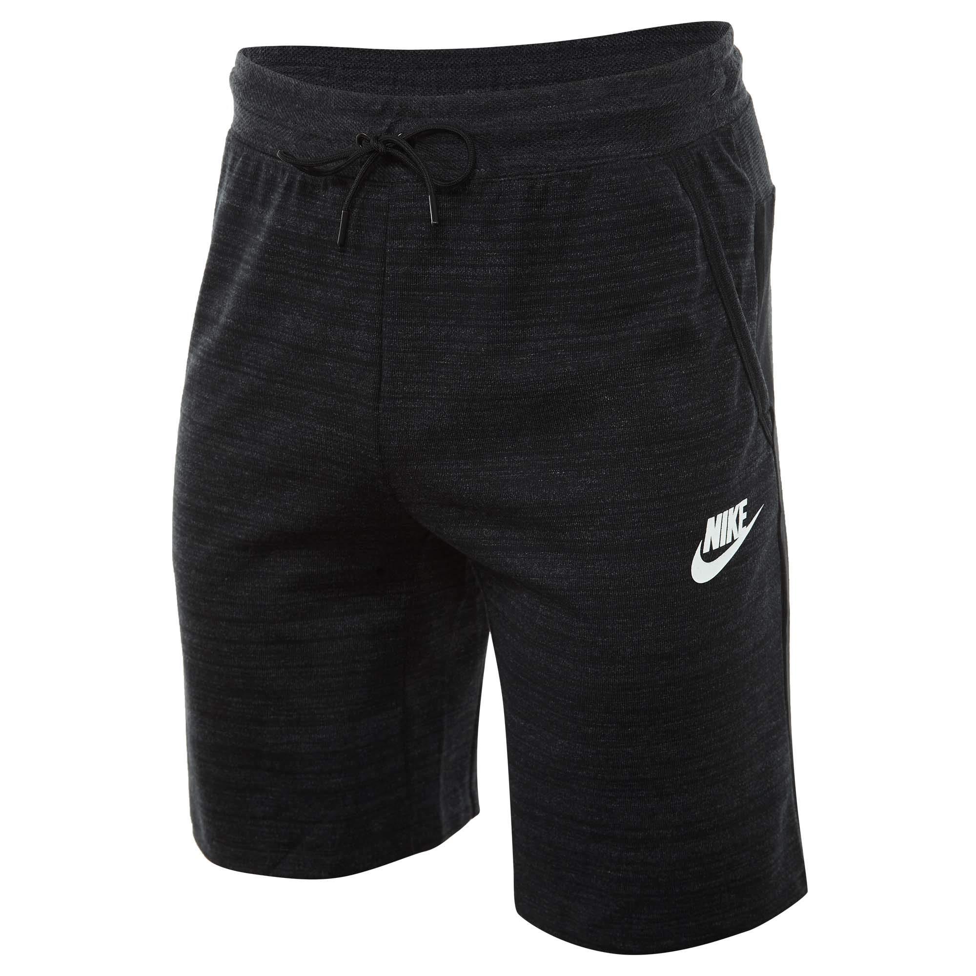 Nike Mens Sportswear Advance 15 Sweat Shorts Black/Heather Black/White 885925-010 Size 2X-Large