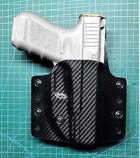 VLTactical OWB Black Kydex for Glock 17//22//31 or Glock 19//19X//23//25//32 or Glock 26//27 or Glock 42 or Glock 43//43X with Leather Inside