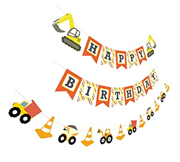 Amazon Construction Birthday Banner